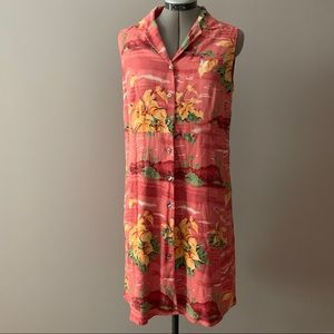 Tommy Bahama tropical collared dress Sz 14